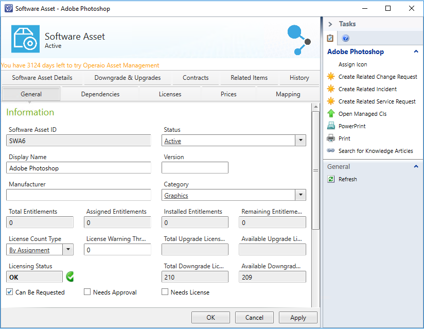 Asset Management für SCSM Software Asset